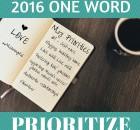 2016 ONE WORD Wellness Goal