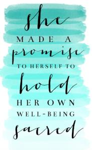 self-care promise
